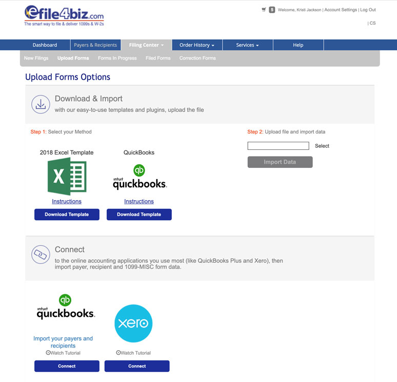 efile 1099s with Quickbooks or Xero data