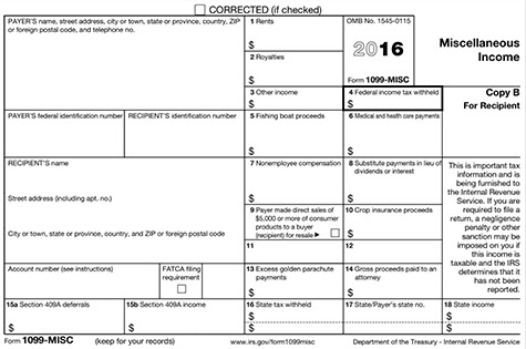Form 1099 Misc Instructions And Tax Reporting Guide